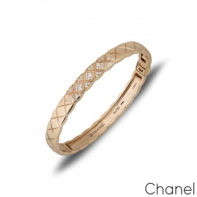 Chanel Beige / Rose Gold Coco Crush Bangle J11763